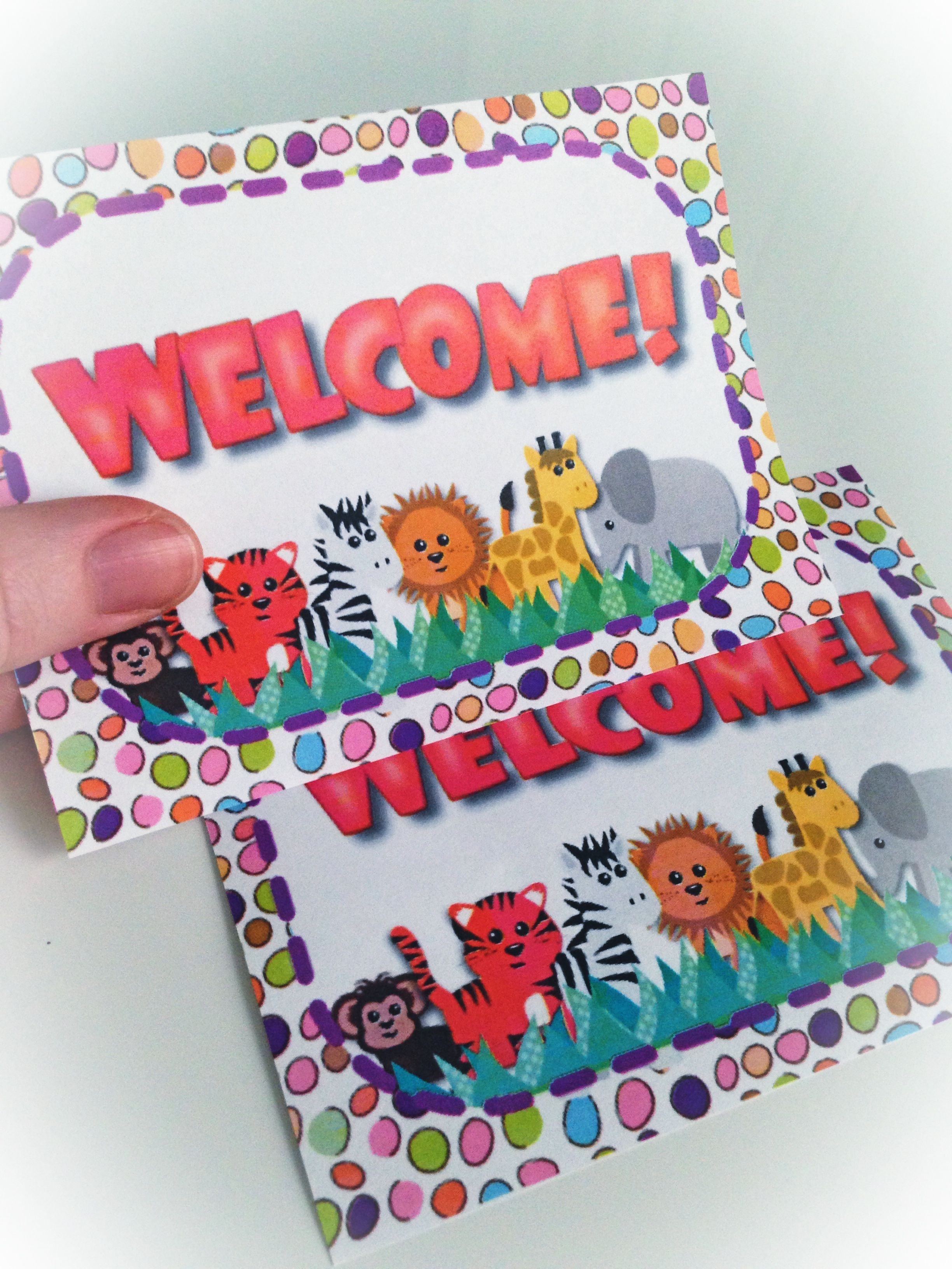 Jungle Safari Welcome Postcard Freebie And Pack