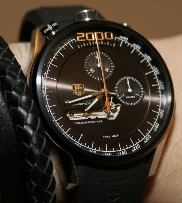 Tag Heuer Mikrogirder 2000 — Chronograph that measures 1/2000 of a second! Fantastic.