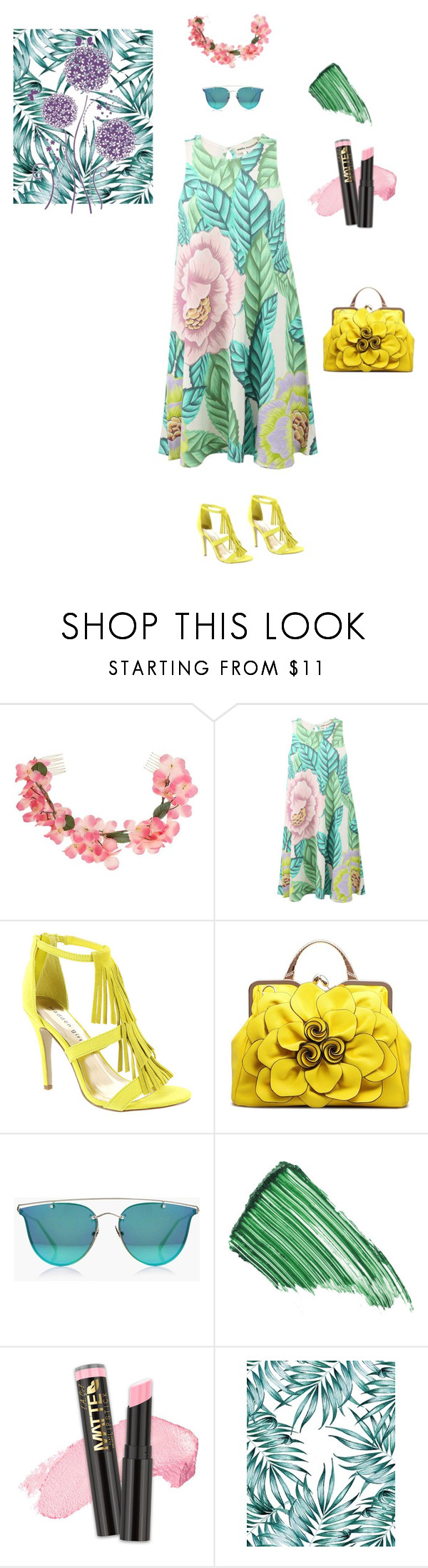 """Untitled #4808"" by ayse-sedetmen ❤ liked on Polyvore featuring Miss Selfridge, Mara Hoffman, Madden Girl, Boohoo and By Terry"