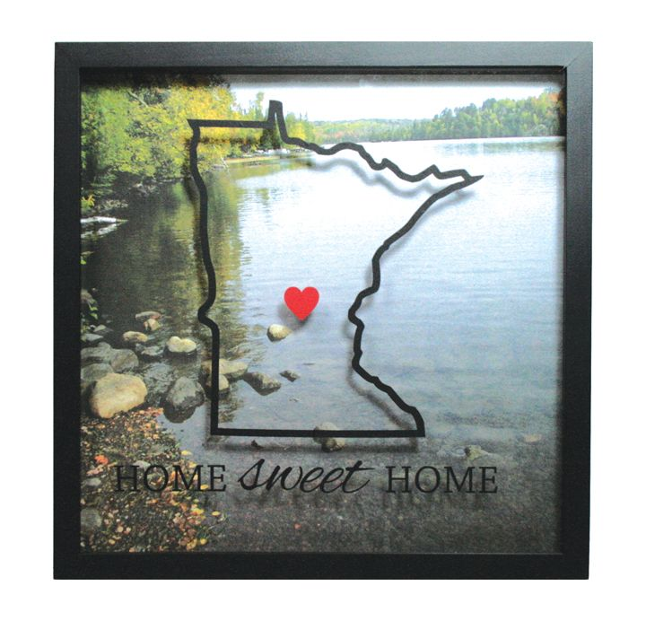 Home Sweet Home Minnesota Shadow Box from @CraftsDirect. | Crafts ...