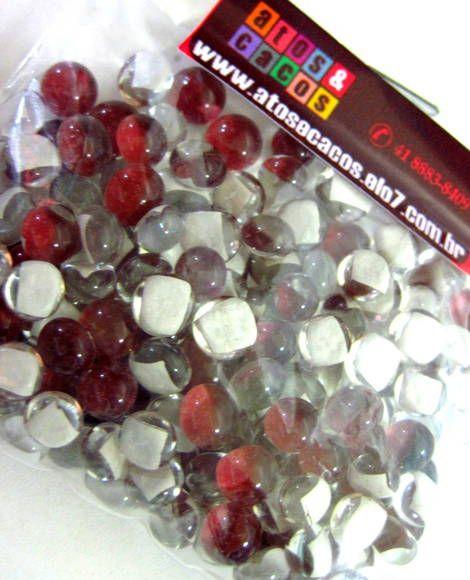 bolinhas de vidro - 0,5 cm -utilizados para confecção de Mosaicos ,Bijuterias e/ou outras aplicações decorativas e artesanais vidro importado Pacotes de 50 G  VINHO RUBI R$ 6,80