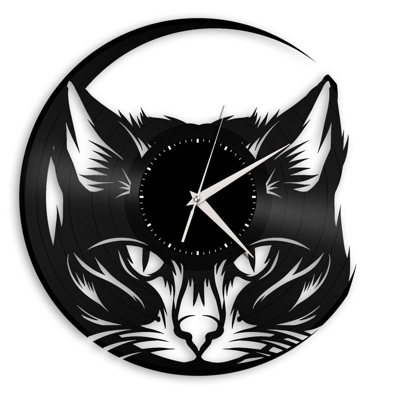 Cat vinyl wall clock wall clocks clocks and cat cat vinyl wall clock amipublicfo Gallery