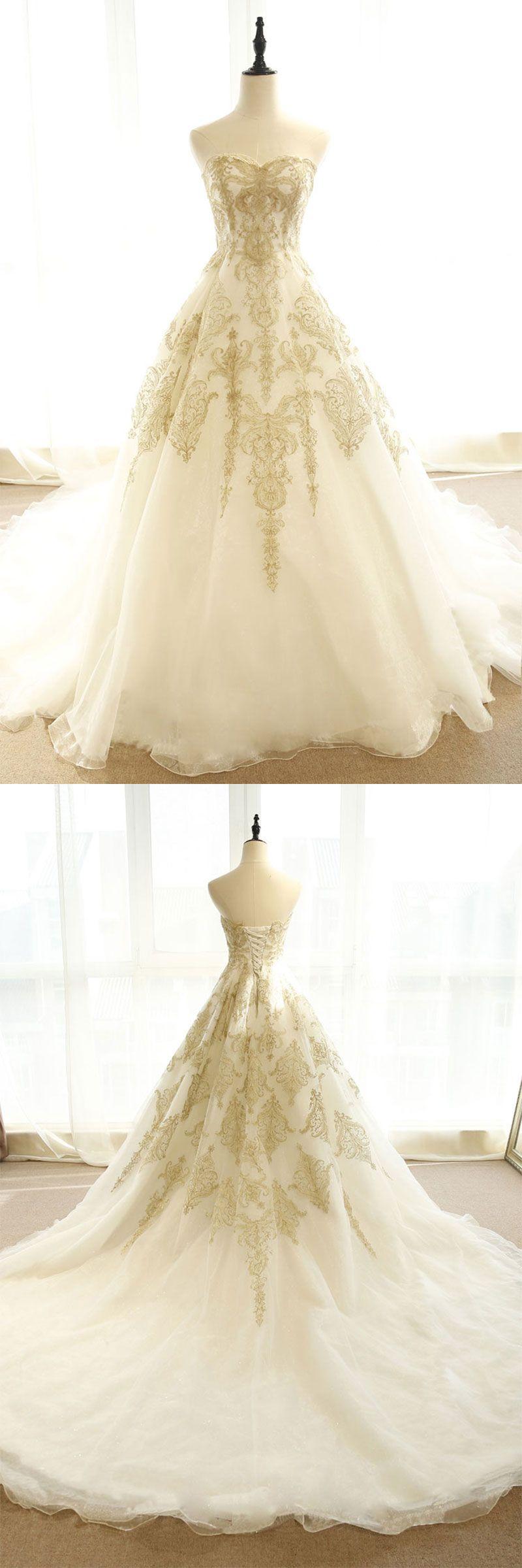 Lace wedding dress champagne  Champagne lace long wedding dress champagne bridal dress  Wedding