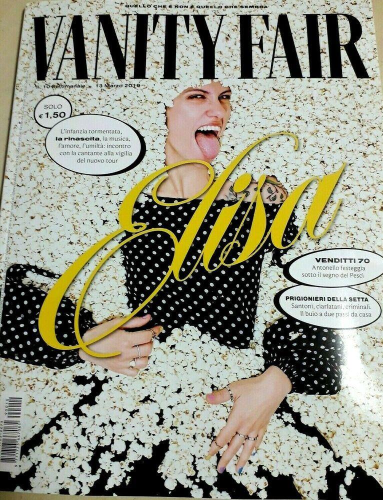 Dettagli Su Vanity Fair Rivista N 10 13 Marzo 2019 Italy Magazine Elisa Antonello Venditti Vanity Fair Italy Magazine Poster