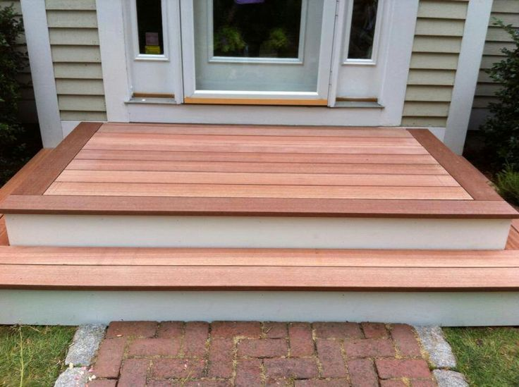 Wood Steps With Wide Wooden Border. Note The Risers Are
