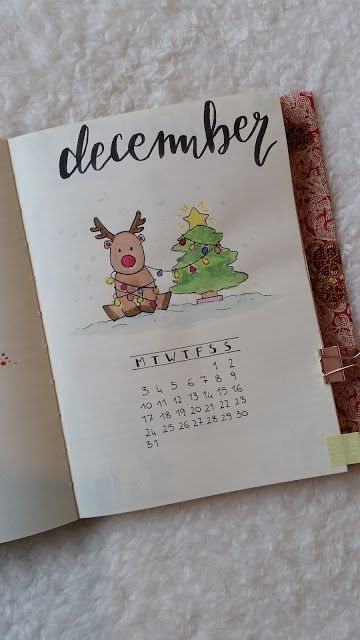christmas, decmeber bullet journal