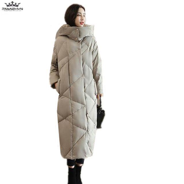e9e83c6bd tnlnzhyn 2018 New Winter Women Coats Fashion Slim Hooded Coats Extra ...
