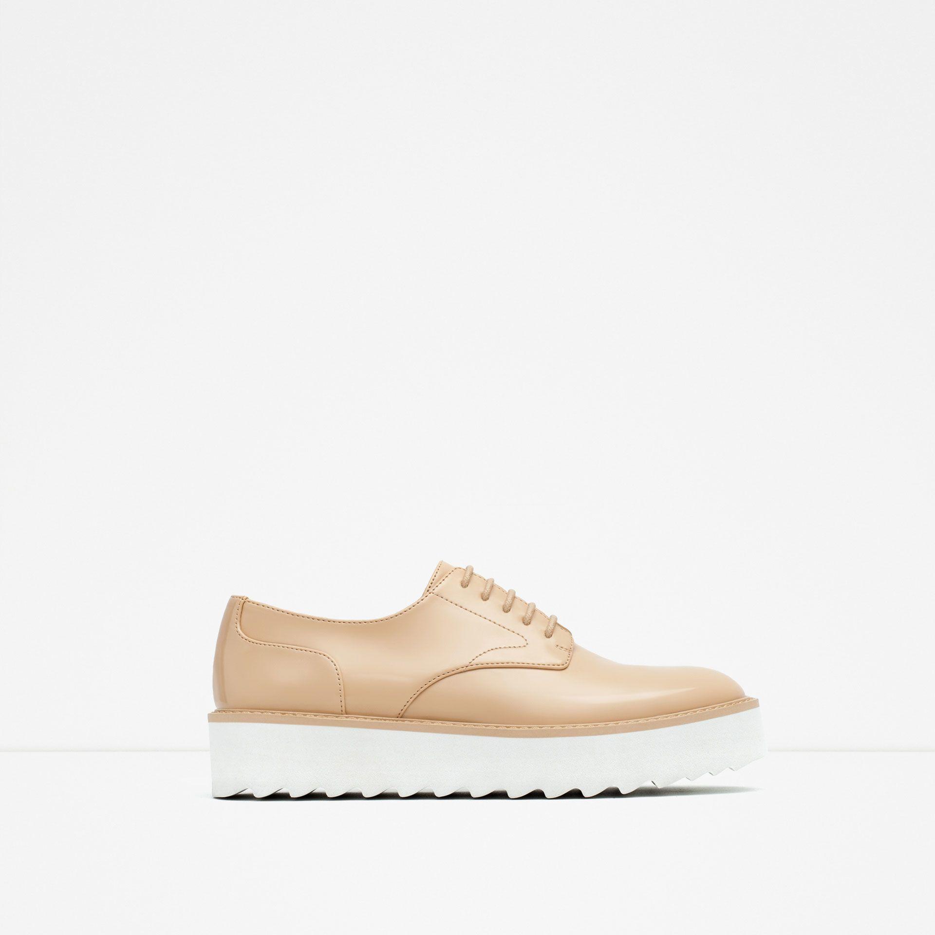 Zara Shoes, Nude Shoes, Lace Up Shoes, Omg Shoes, Womens Flats, Platform  Shoes, Shoes Women, Zara Women, Platforms