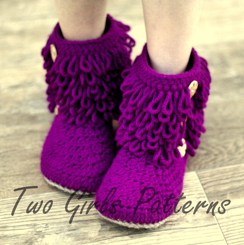 Womens crochet boots pattern | crochet & knitting | Pinterest ...