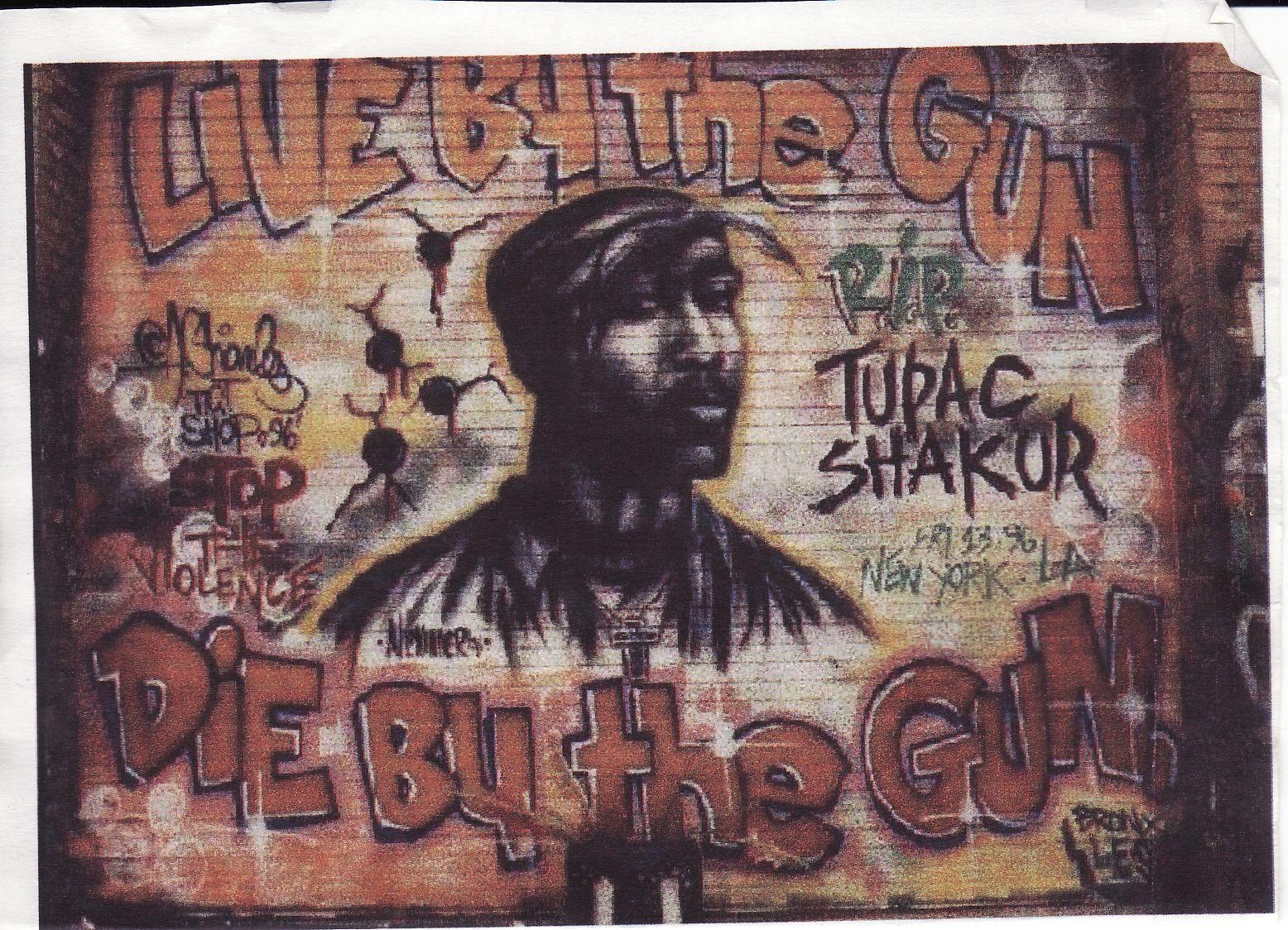 tupac mural art music pinterest mural art street tupac 2pac rap hip hop poster wall mural print on paper