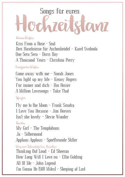 Super Tipps Und Songs Fur Euren Hochzeitstanz Hochzeitstanz Lieder Hochzeit Musik Hochzeit