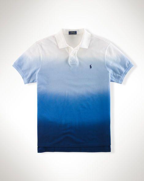 Dip-Dyed Ombré Polo Shirt - Polo Ralph Lauren Custom-Fit - RalphLauren.com 62510c57ff5