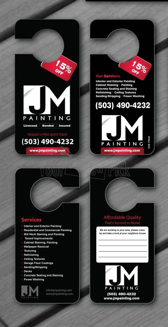 Door Hanger Designs  Graphic Design