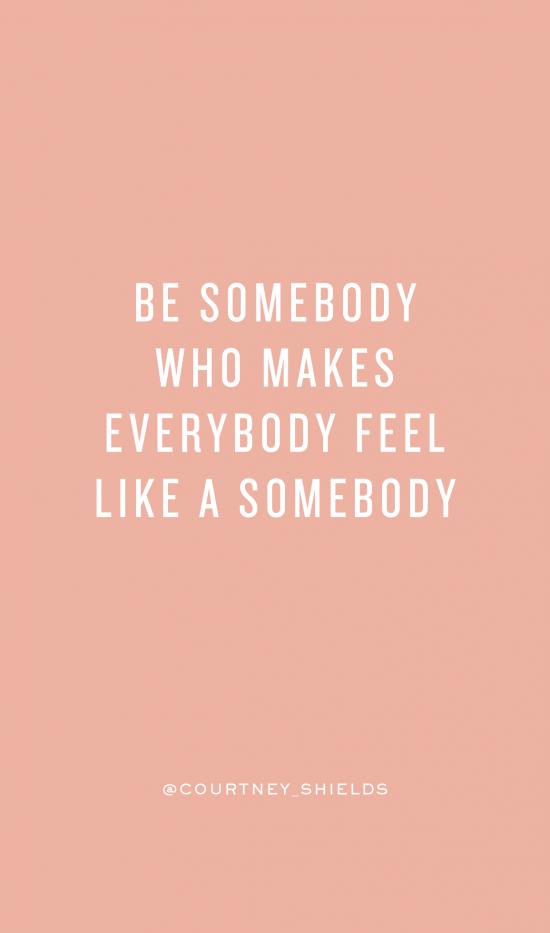 S O M E B O D Y #Inspirational #inspiredaily #quote #life ...
