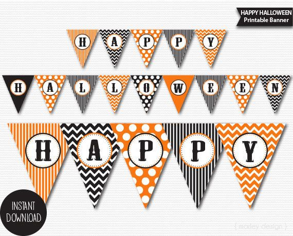 photo relating to Printable Halloween Banners titled Halloween Banner Printable Halloween Decorations Halloween