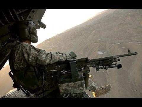 Afghanistan War  Heavy Firefight Helicopter Door Gunners