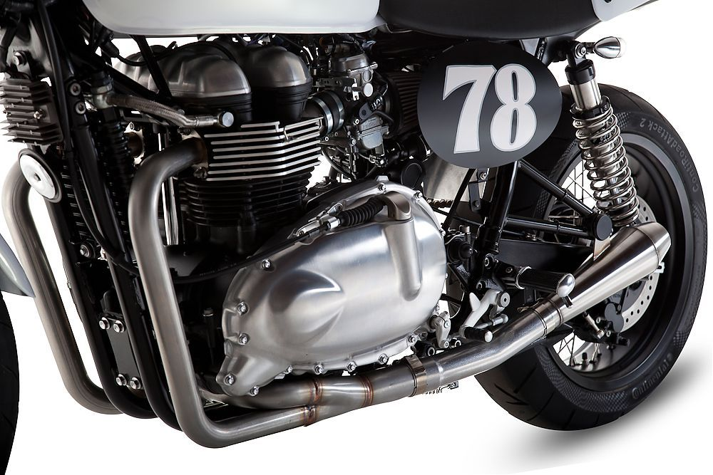 2-into-1 Exhaust System | Motorcycles | Custom motorcycles, Triumph
