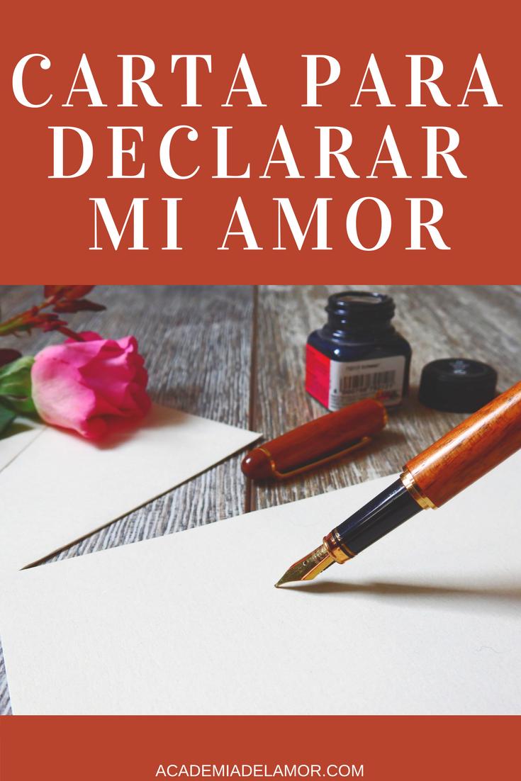 Carta Para Declarar Mi Amor A Un Hombre Atreviendome A Enamorarlo