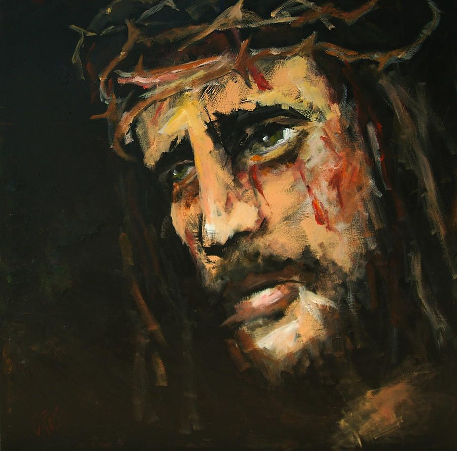 crucified jesus painting crucified jesus fine art print jesus