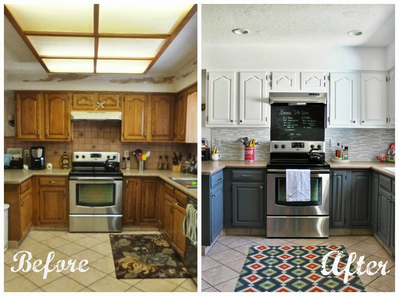grey and white kitchen before and after, House For Five featured on ...