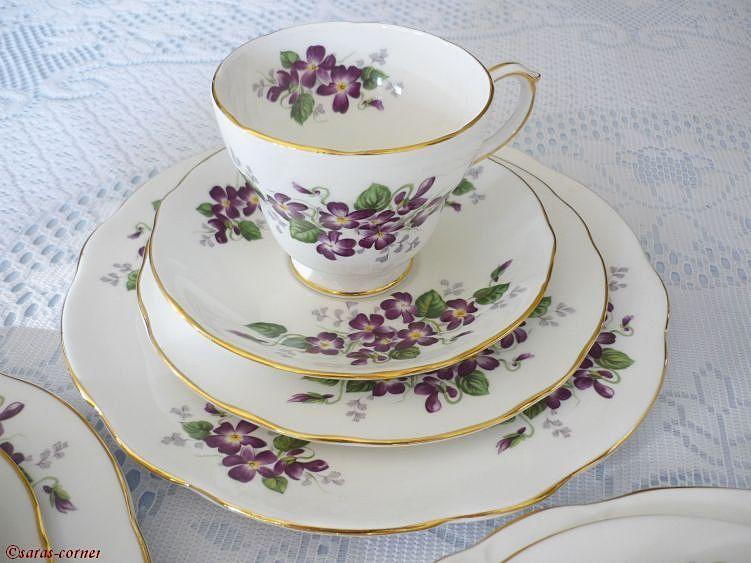 """Englisches Teeservice porzellan teeservice """"violetta"""". hersteller duchess feines"""