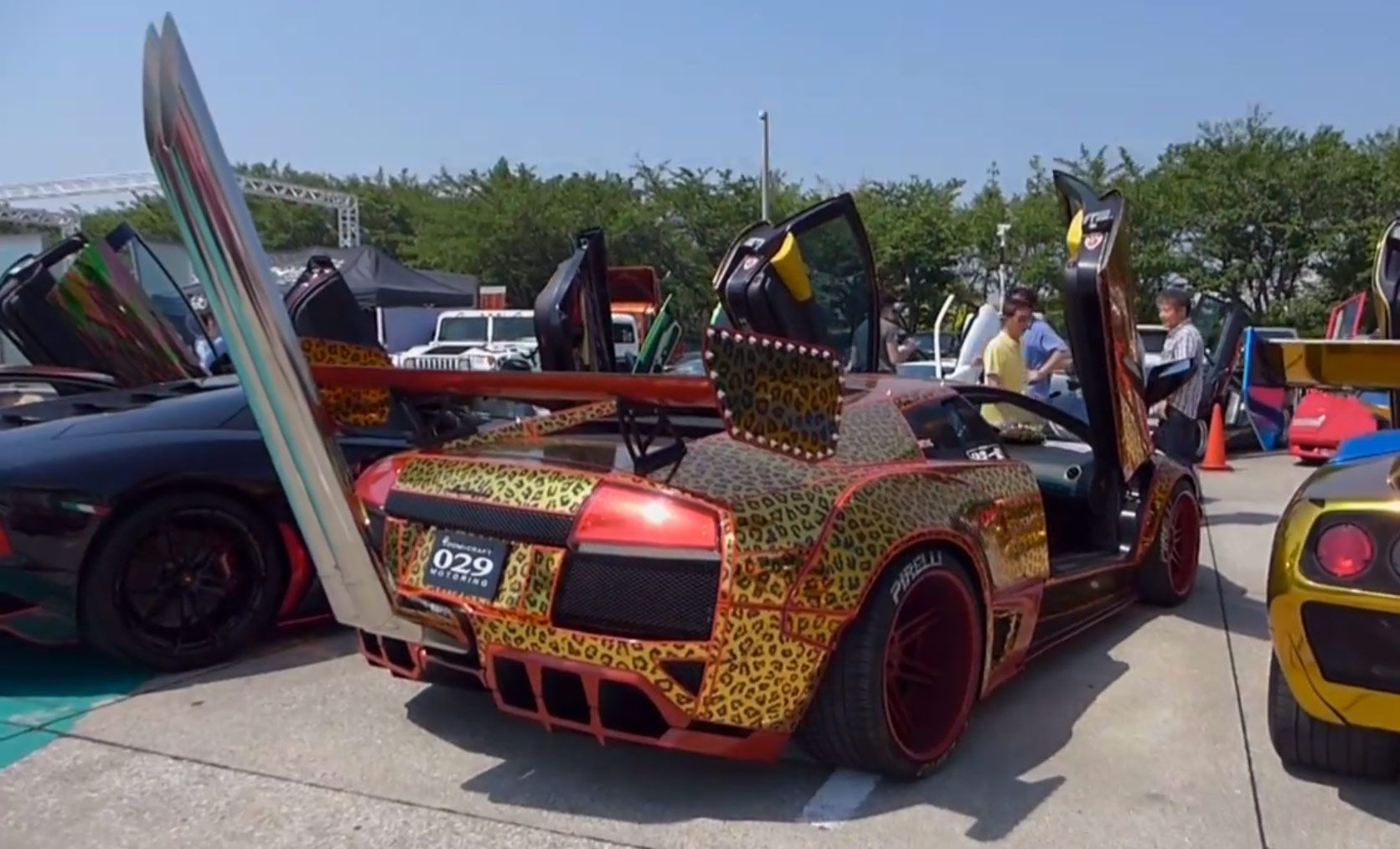 Welcome To Japan: Bosozoku Lamborghini Sports Towering Exhaust