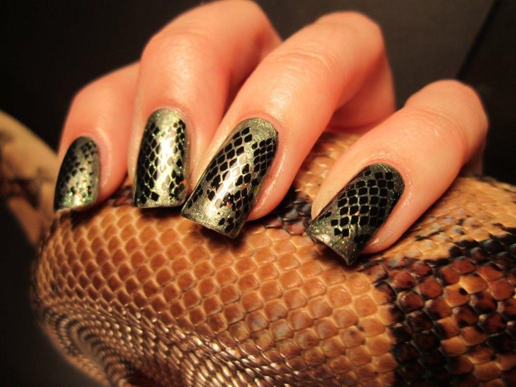 Snake Nail Prints Nails Art Pinterest