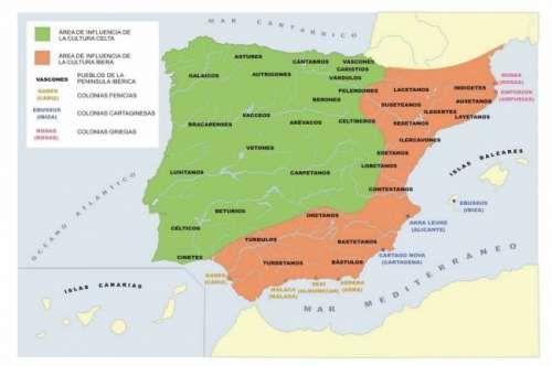 Pueblos prerromanos de la Península Ibérica | Mapas | Pinterest