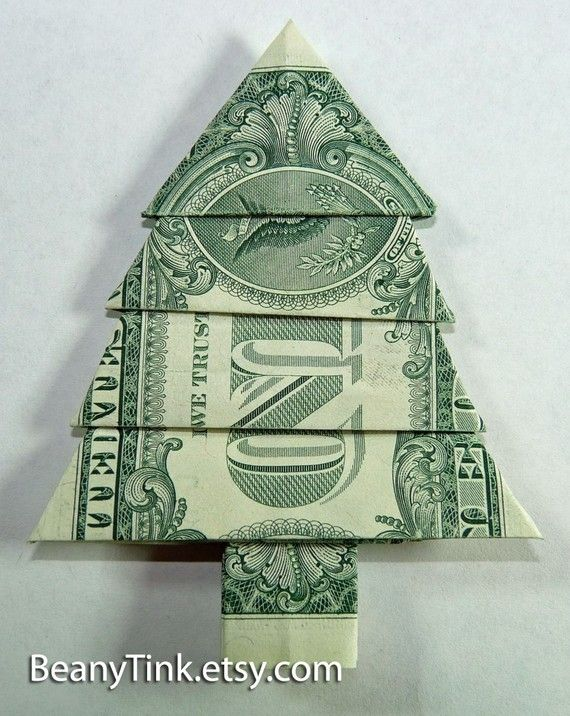 Dollar Origami - Pine Tree - Dollar Origami - Pine Tree The Board Of Randomness :P Pinterest