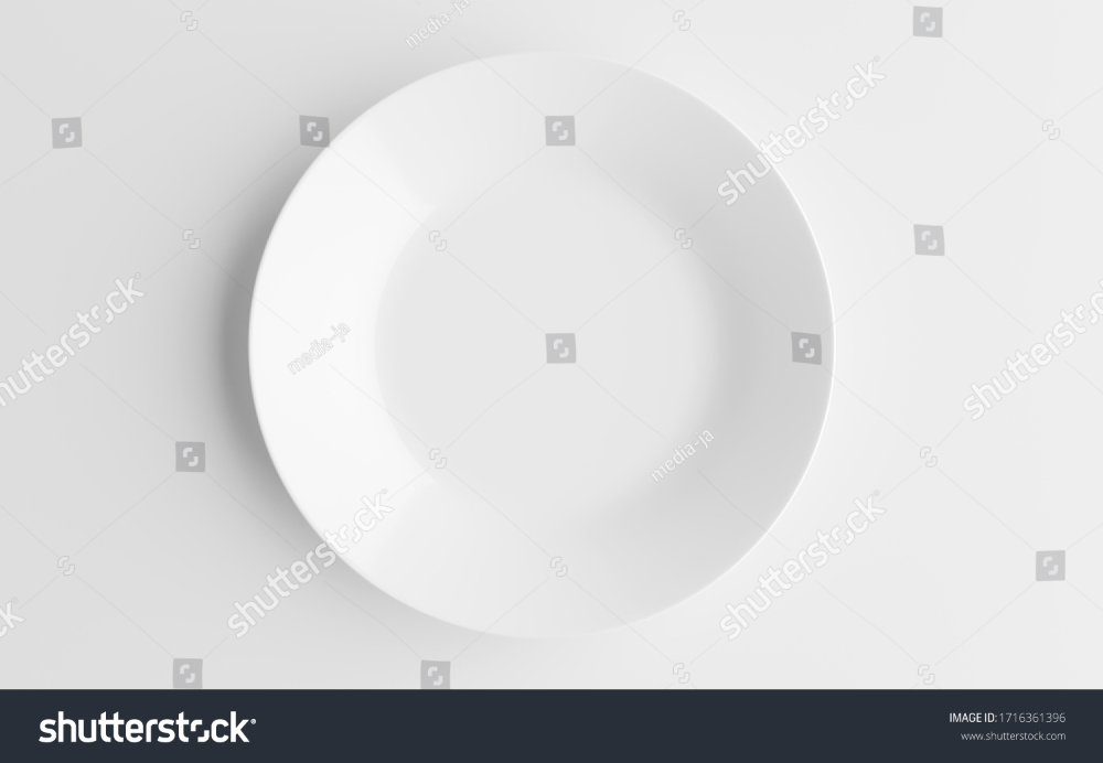 Empty White Plate Ceramic Dish Isolated Stock Illustration 1716361396 In 2020 Ceramic Dishes White Plates Ceramics