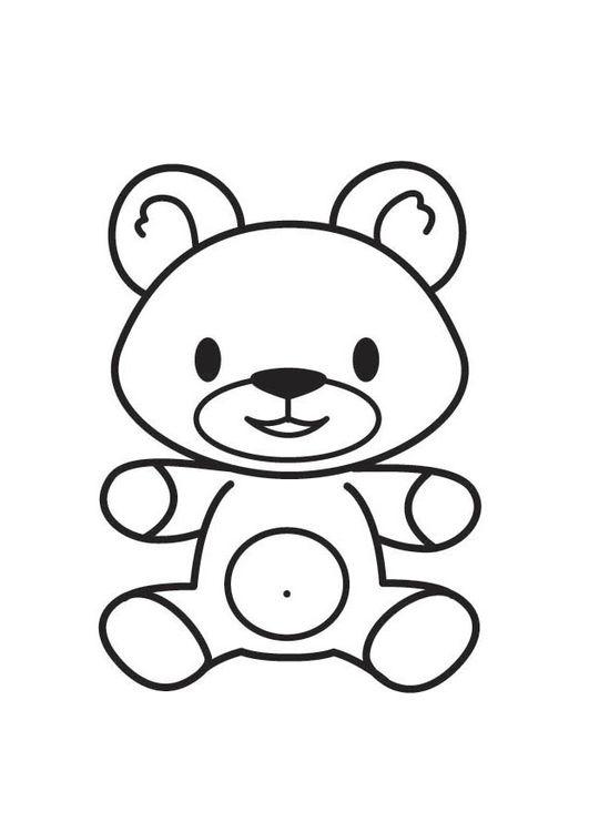 coloring page bear kleurplaten beer