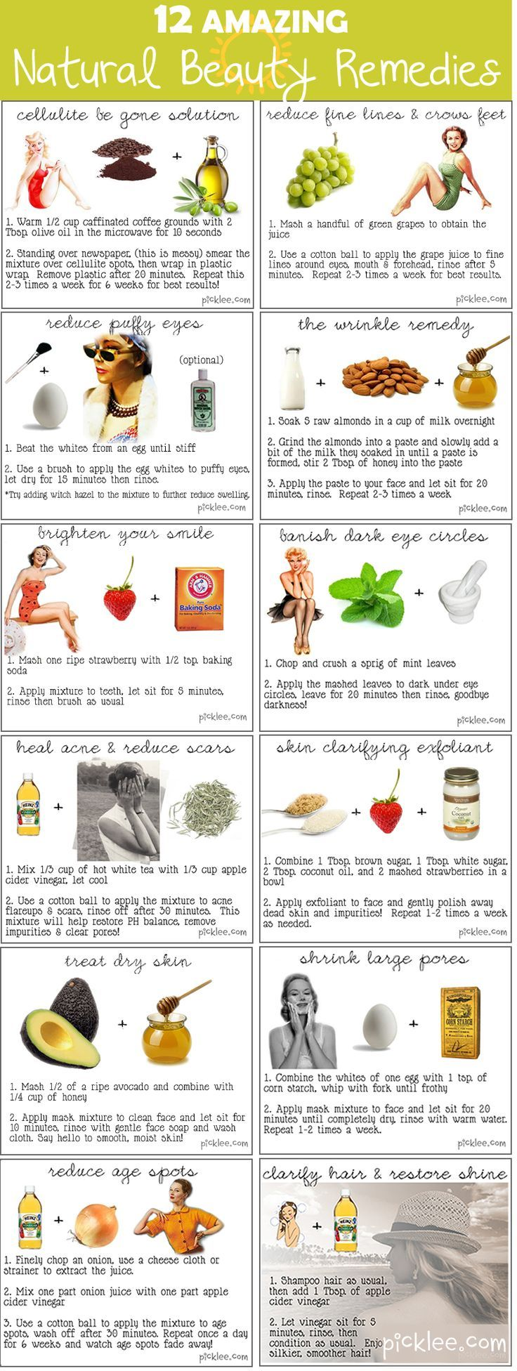 Beauty recipes target puffy eyes cellulite wrinkles dry skin