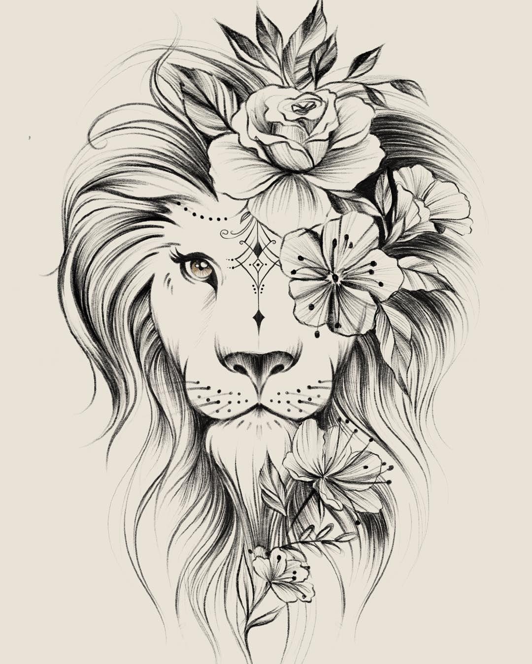 A Imagem Pode Conter Desenho Tatuagem Feminina Leao Fotos