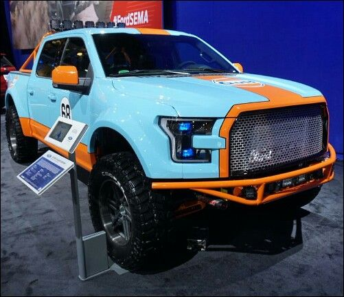 Gulf Edition Ford With Images Cool Trucks Ford Trucks Cars