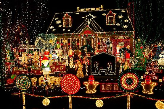 Outside House Christmas Lights Decorating Photo Ideas Pinboards