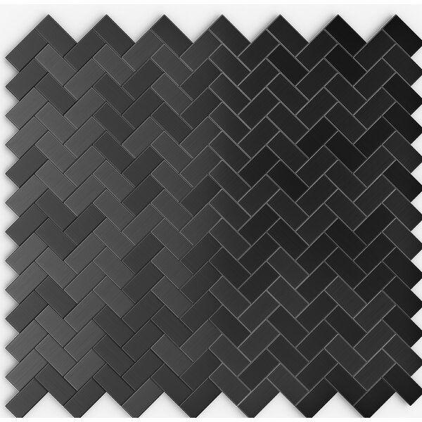 12 X 12 Metal Peel Stick Mosaic Tile In 2020 Mosaic Tiles Black Mosaic Tile Mosaic