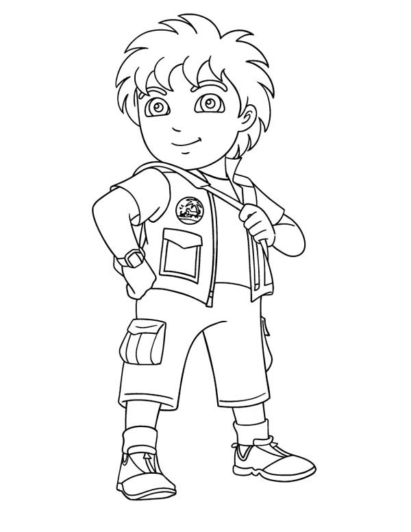 8 Years Old Latino Boy In Go Diego Go Coloring Page Netart In 2020 Kids Printable Coloring Pages Chibi Coloring Pages Cartoon Coloring Pages