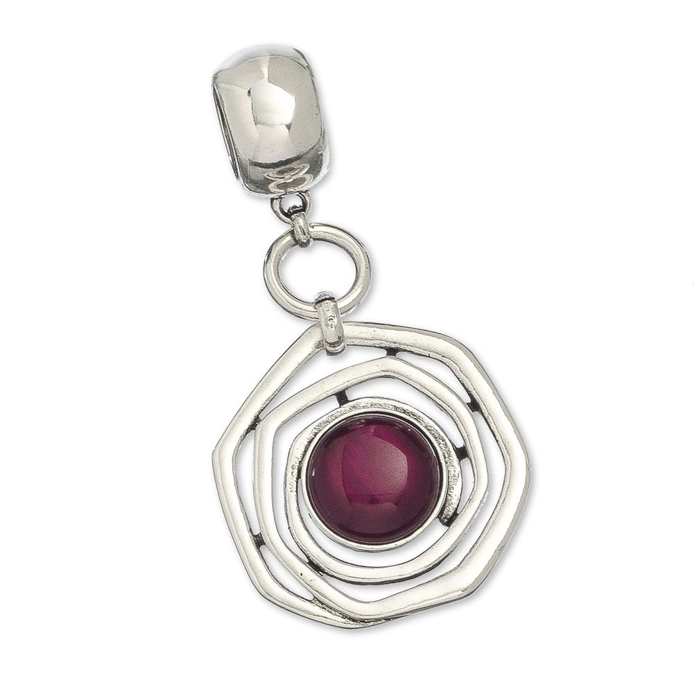 Swirl with colored stone scarf jewelry purple this purple stone swirl with colored stone scarf jewelry purple this purple stone scarf pendant hangs from a mozeypictures Choice Image