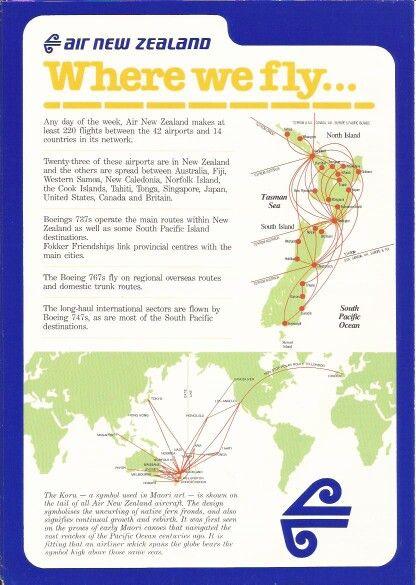 Air New Zeland Information Sheet | Route maps | Pinterest | Air new ...