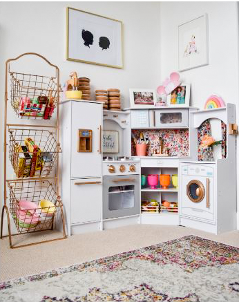 Gorgeous Playroom Kitchen By Marissa Of Hello Baby Brown And Sloan And Co. | Kids Rooms Diy, Girl Room, Girls Playroom