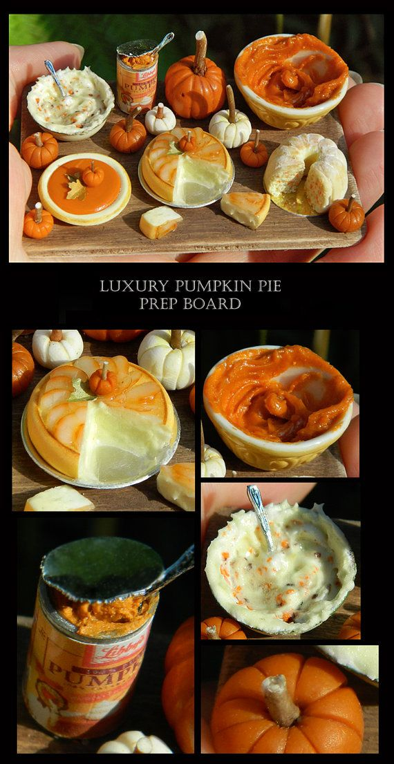 Reserved Listing for Cupcakes2u - Luxury Halloween Pumpkin Prep Board - Artisan fully Handmade Miniature in 12th scale.