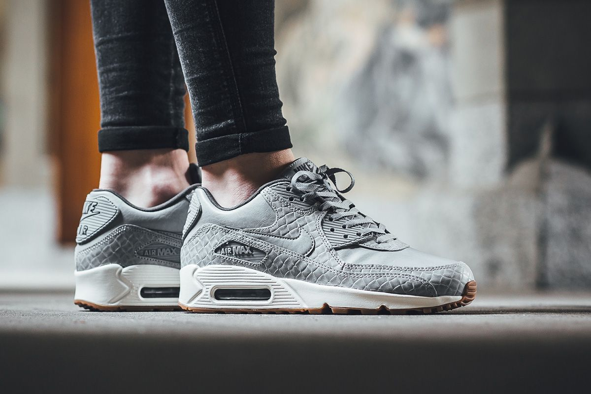 nike sportswear air max 90 premium - sneaker - dark grey/wolf grey