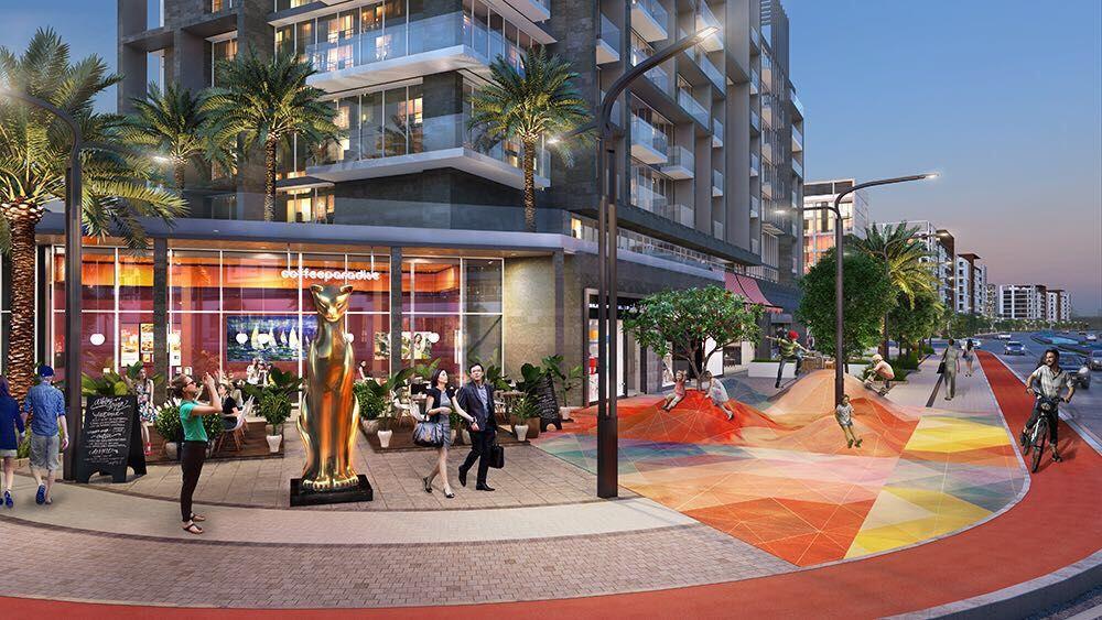 ريفيرا يقع بجوار اكبر بناء سكنى فى العالم وهو ميدان وان تاور والذي يقع بجوار المول ايضا من المميزات التى سوف تغير واقعي House Styles Street View Mansions