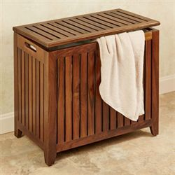 Jonas Large Teak Wood Hamper In 2020