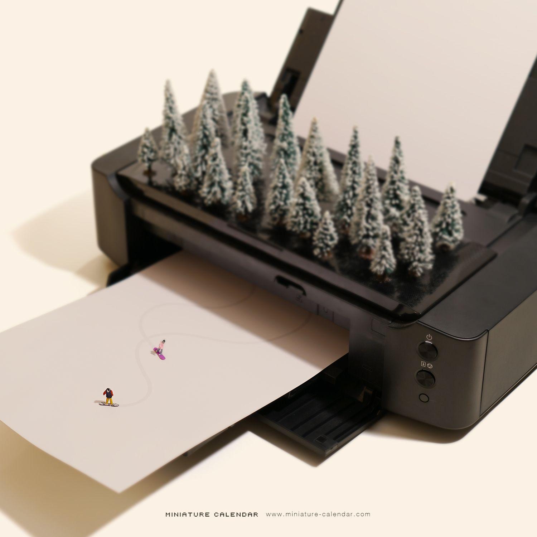 Miniature Calendar.Miniature Calendar Miniature Art In 2019 Miniature Calendar