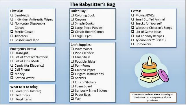 Ever wondered what to include in a babysitting bag? This checklist