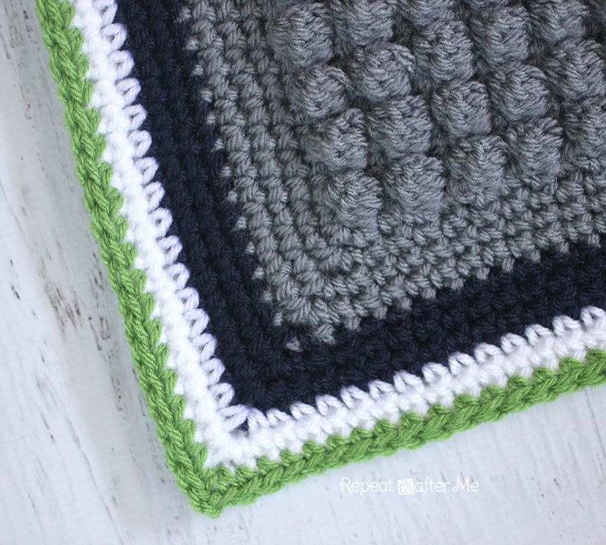 Repeat Crafter Me: Crochet Bobble Stitch Pixel Blanket (Seattle ...