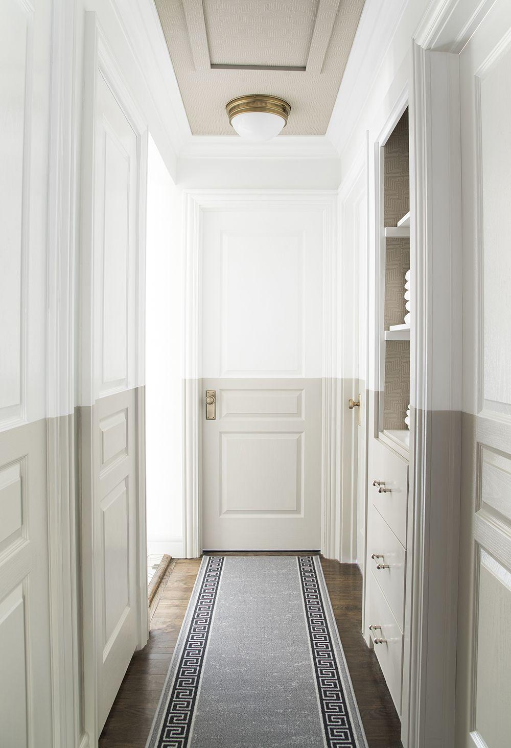 Hallway lighting modern  Linen Closet Update u Tips for Choosing Paint  Home  Pinterest
