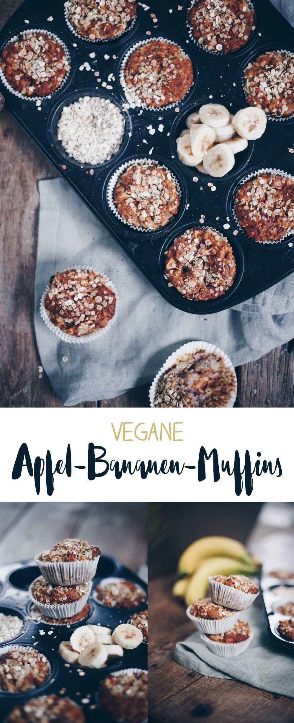 Vegane Apfel-Bananen-Muffins - Backen für Kleinkinder