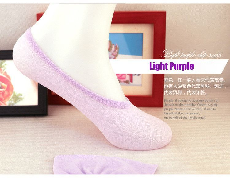 Girls Socks Invisible 6Pairs/Lot Shallow Mouth Solid Color High Heels